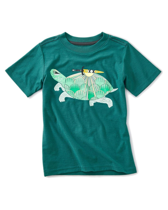 Little tea collection boy 10 thailan turtle graphic tee