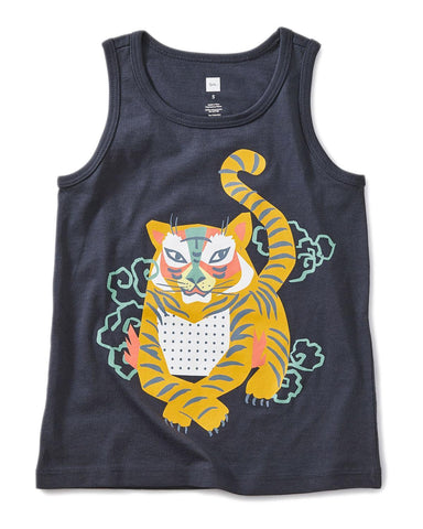 Little tea collection girl 10 tiger graphic tank