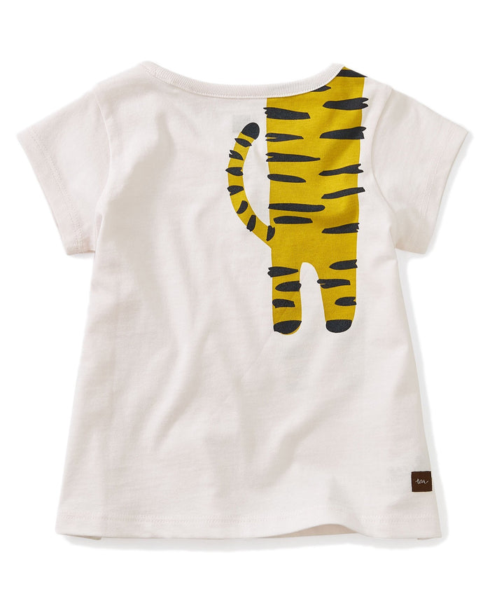 Little tea collection baby girl 12-18 tiger turn baby graphic tee