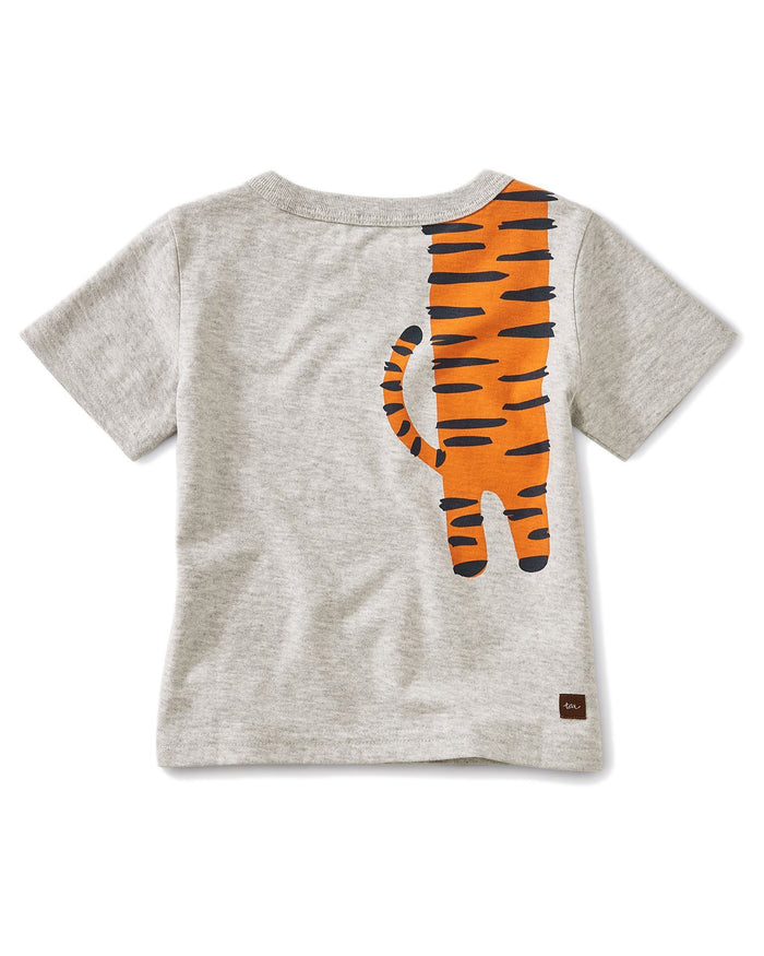 Little tea collection baby boy 12-18 tiger turn baby graphic tee