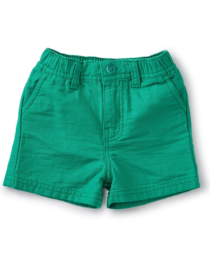 Little tea collection baby boy travel baby shorts in viridis