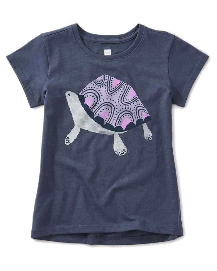 Little tea collection girl 10 turtle graphic tee