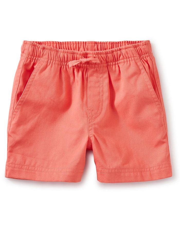 Little tea collection boy twill sport shorts in sunset pink
