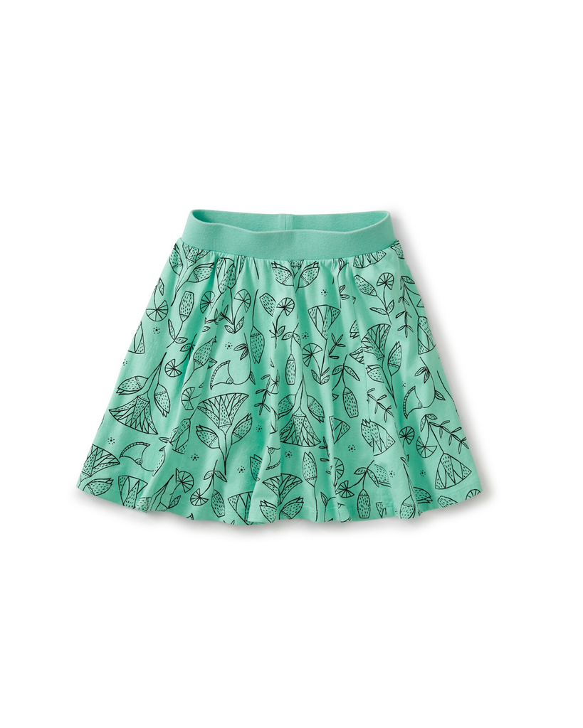 Little tea collection girl twirl skort in pharaonic floral cascade