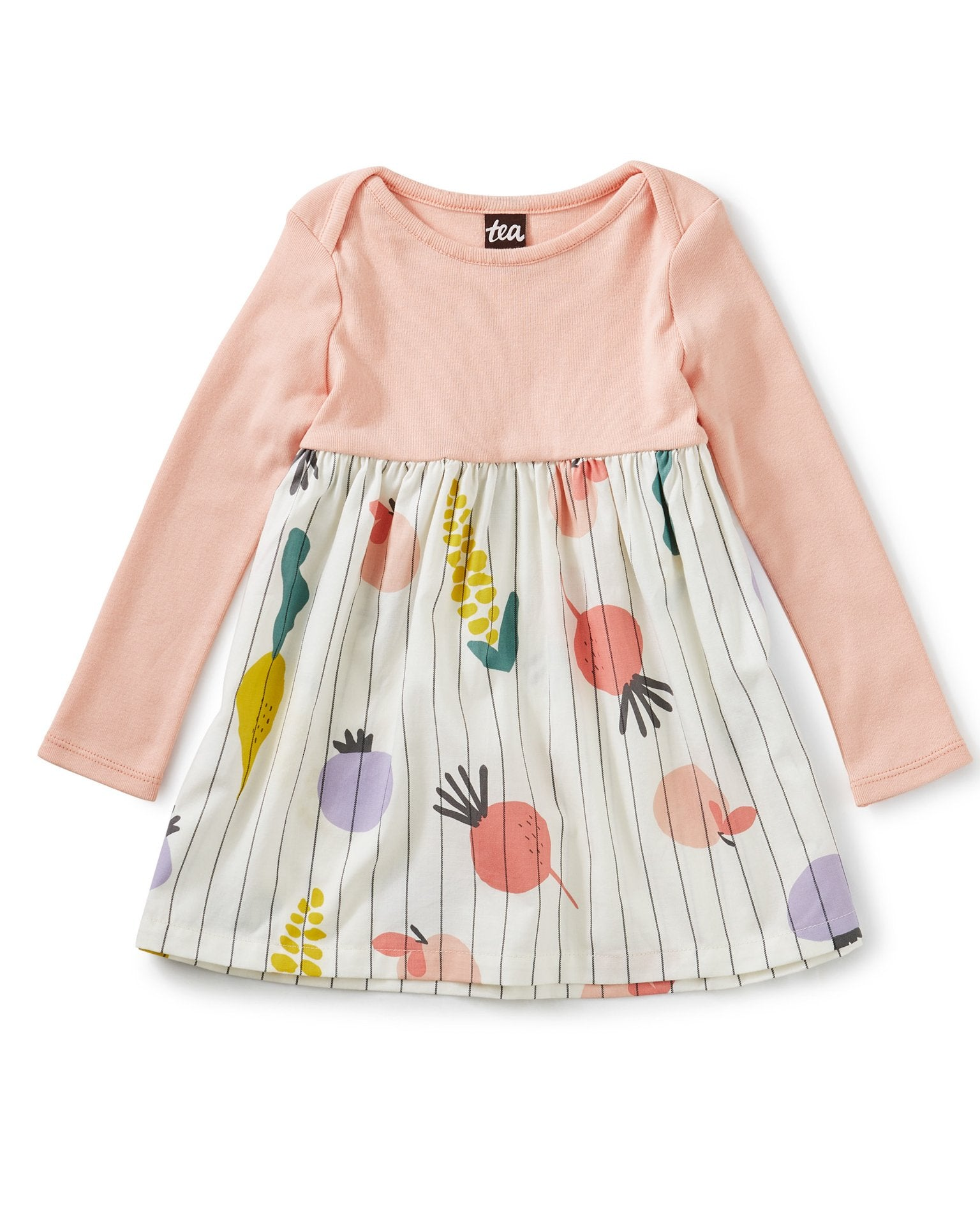 Little tea collection baby girl two-tone baby dress