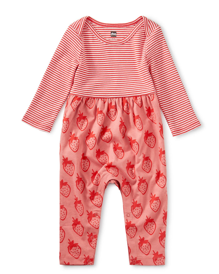 Little tea collection baby girl two-tone romper