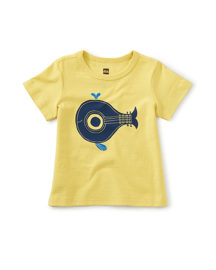 Little tea collection baby boy whale song graphic tee