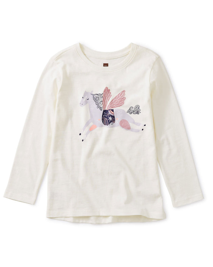 Little tea collection girl wind horse storytelling tee