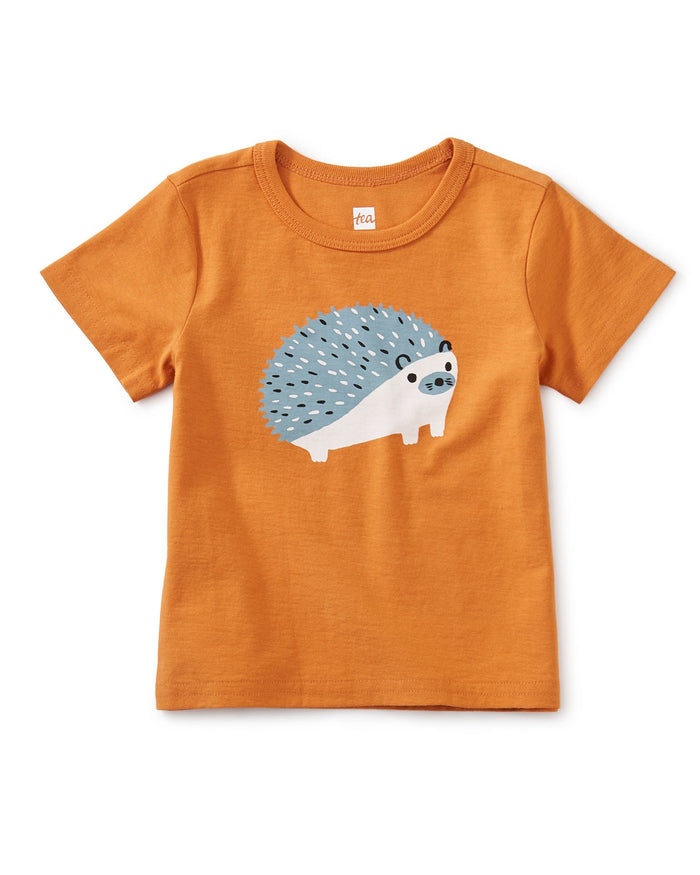 Little tea collection baby boy woodland hedgehog graphic