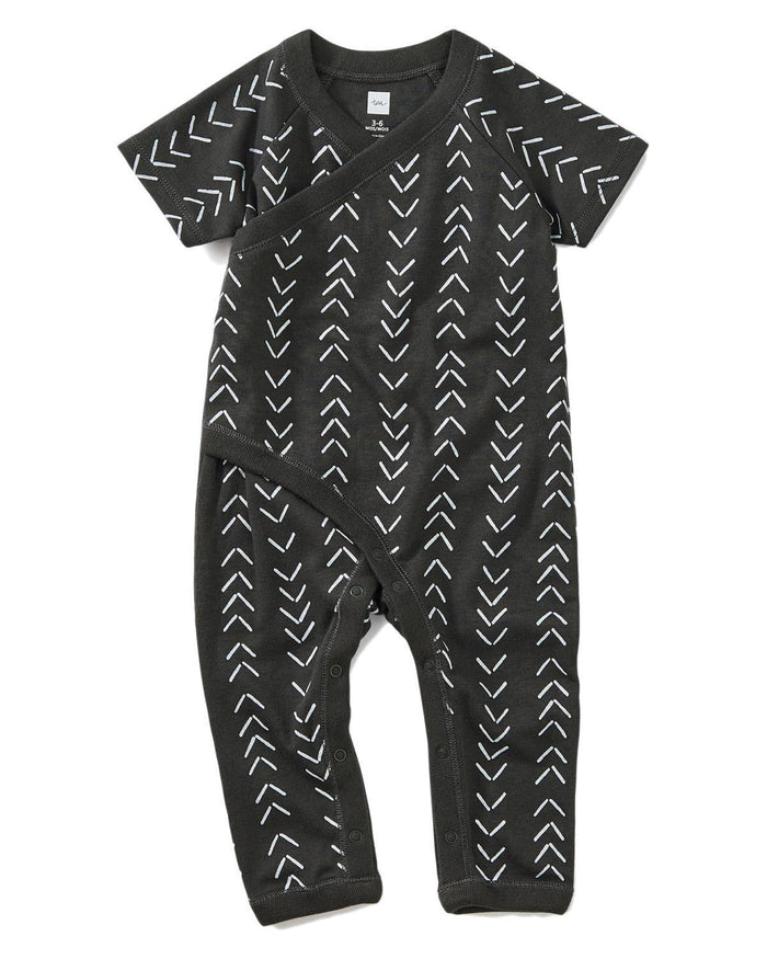 Little tea collection layette 0-3 wrap romper