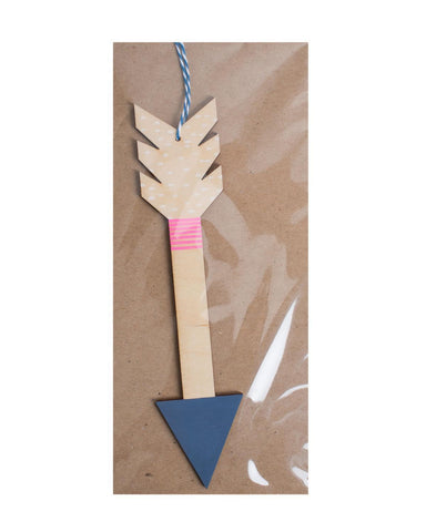 Little the great lakes goods room Arrow Wall Charm in Navy