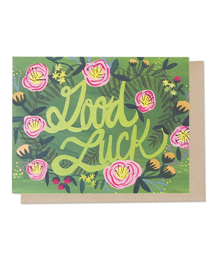 Little thimblepress paper+party Good Luck Floral Card