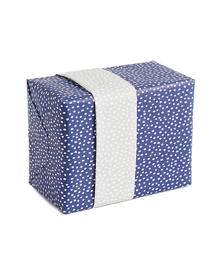 Little waste not paper paper+party Flurry Wrap in Navy