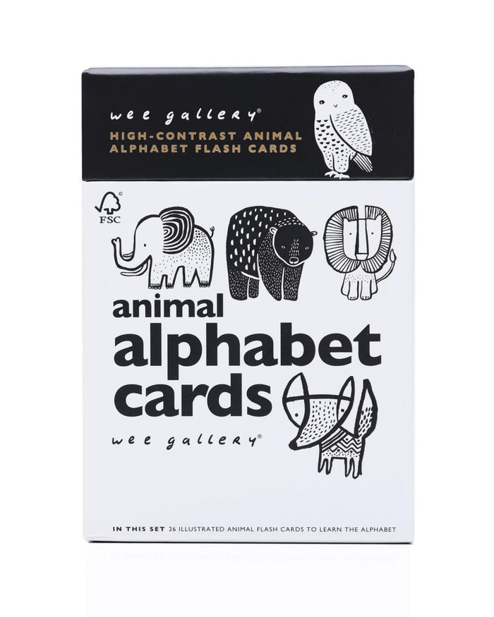 Little wee gallery play animal alphabet cards