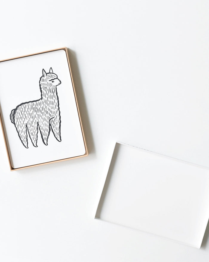 Little wee gallery play baby animals art cards