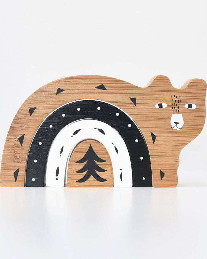 Little wee gallery play bamboo nesting bear