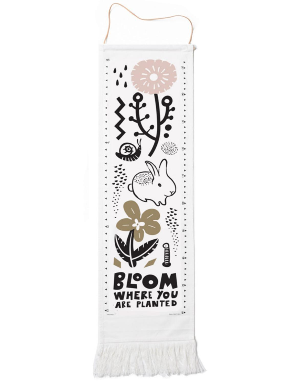 Little wee gallery room canvas growth chart in bloom