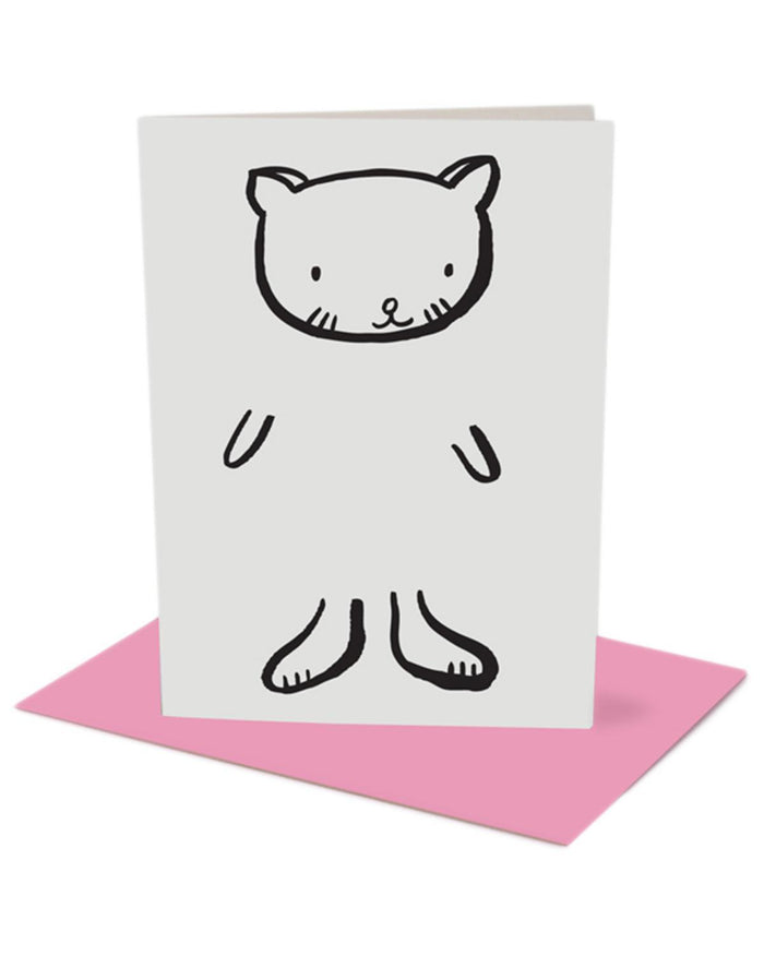 Little wee gallery paper+party Dress Up Cat Card