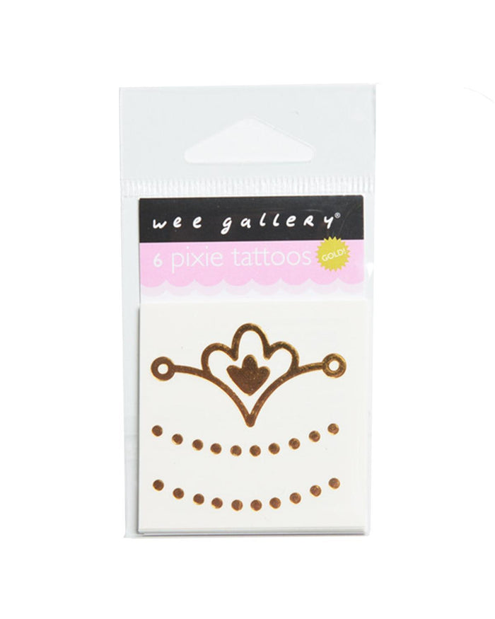 Little wee gallery paper+party Gold Pixie Tattoos