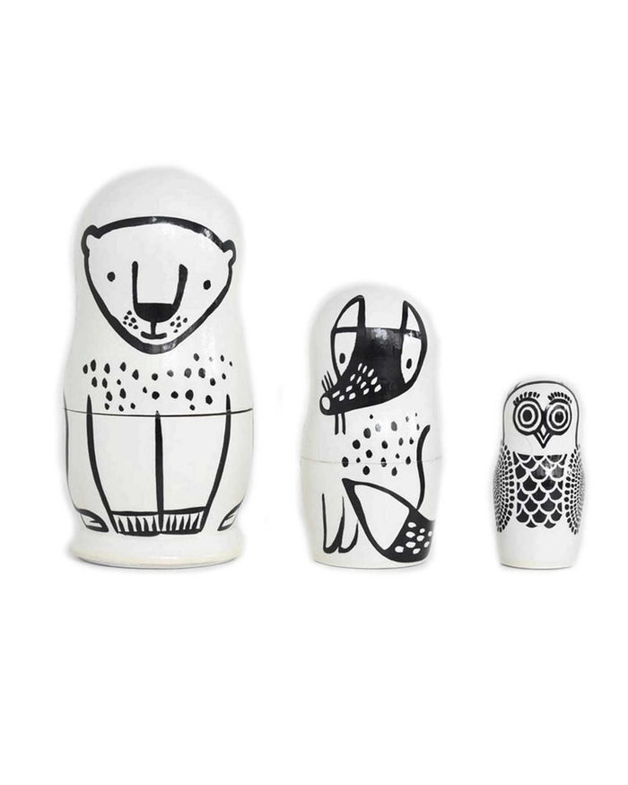 Little wee gallery play nesting dolls in forest friends