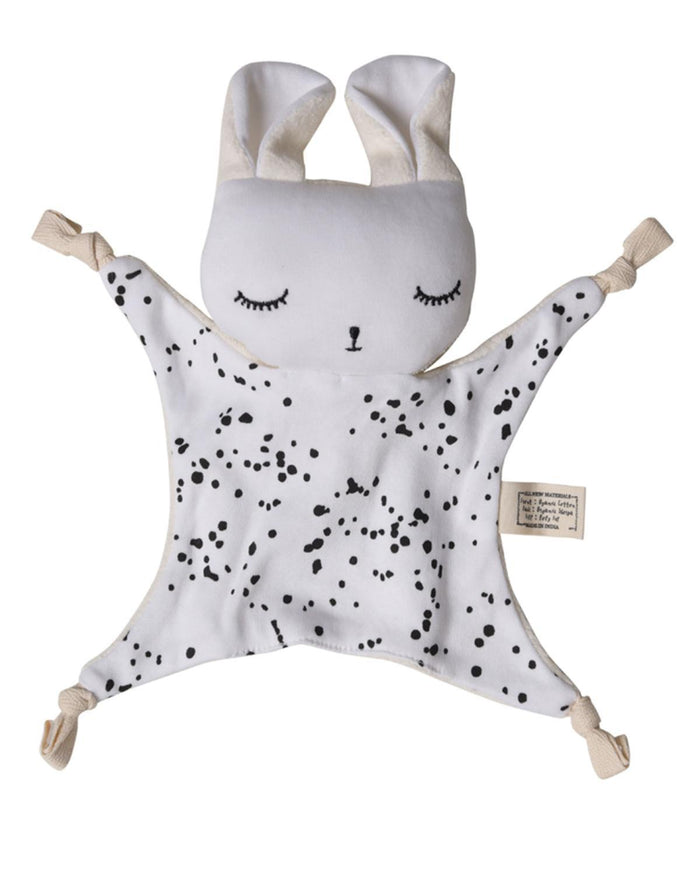 Little wee gallery play organic cuddle bunny in splatter