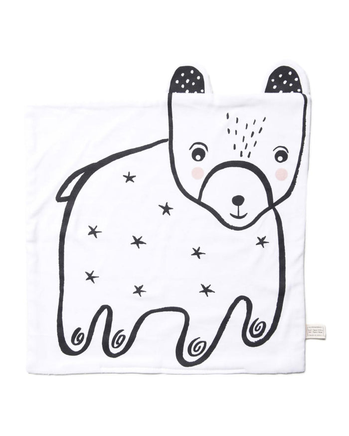 Little wee gallery play organic snuggle blanket in bear