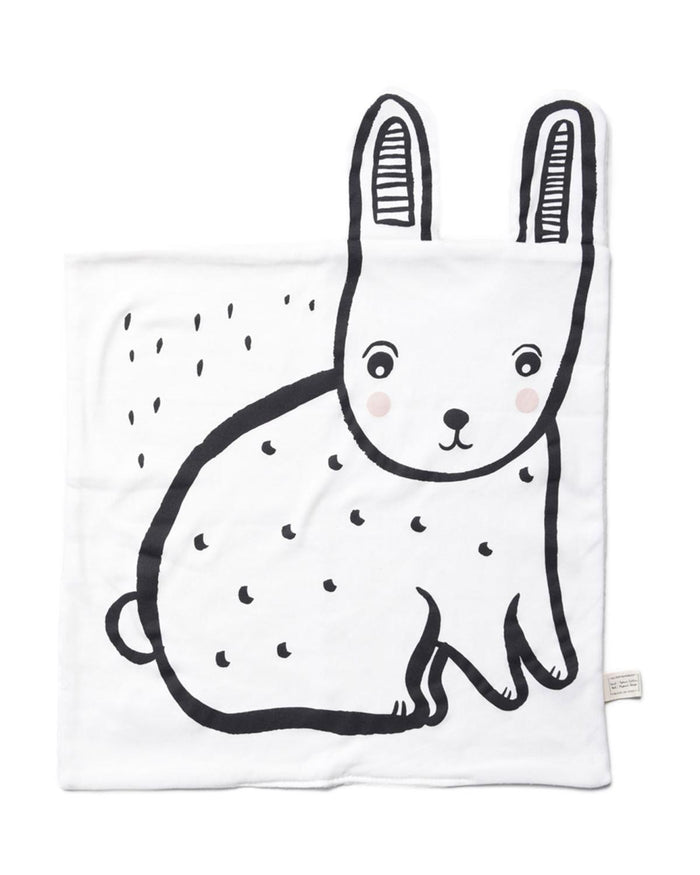 Little wee gallery play organic snuggle blanket in bunny