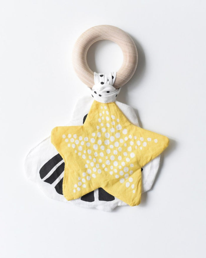 Little wee gallery baby accessories starfish crinkle teether