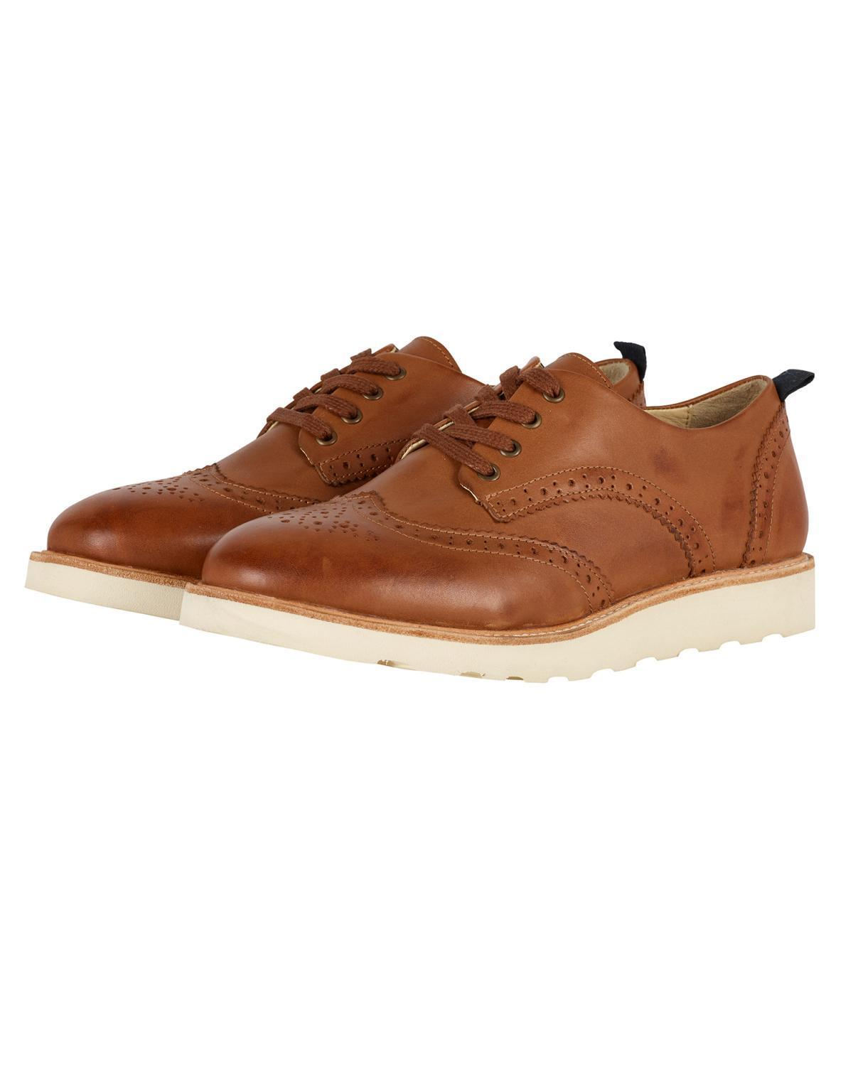 Little young soles boy 23 brando brogue shoe in tan