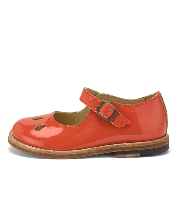 Little young soles girl june patent leather mary jane in clementine