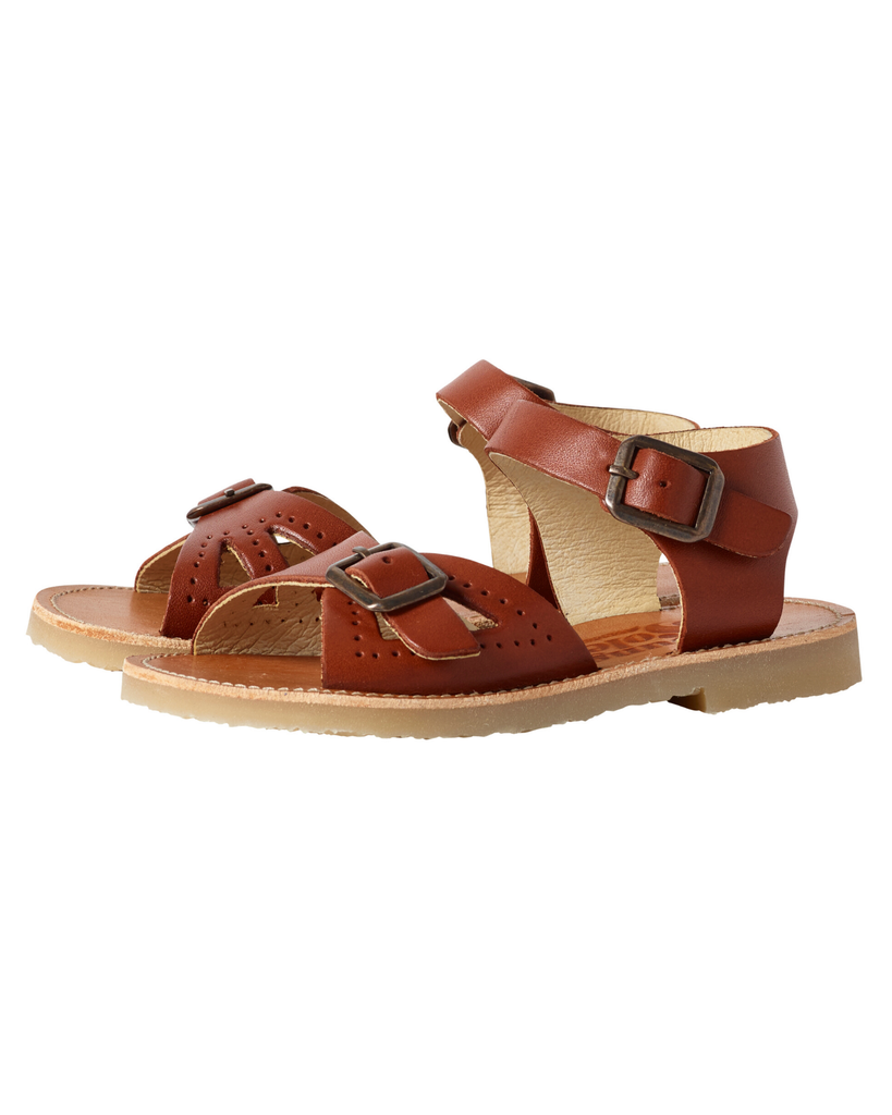 Little young soles girl pearl sandal in chestnut