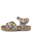 Little young soles girl pearl sandal in flora print