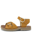 Little young soles girl pearl sandal in mustard