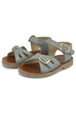 Little young soles girl pearl sandal in smokey sage