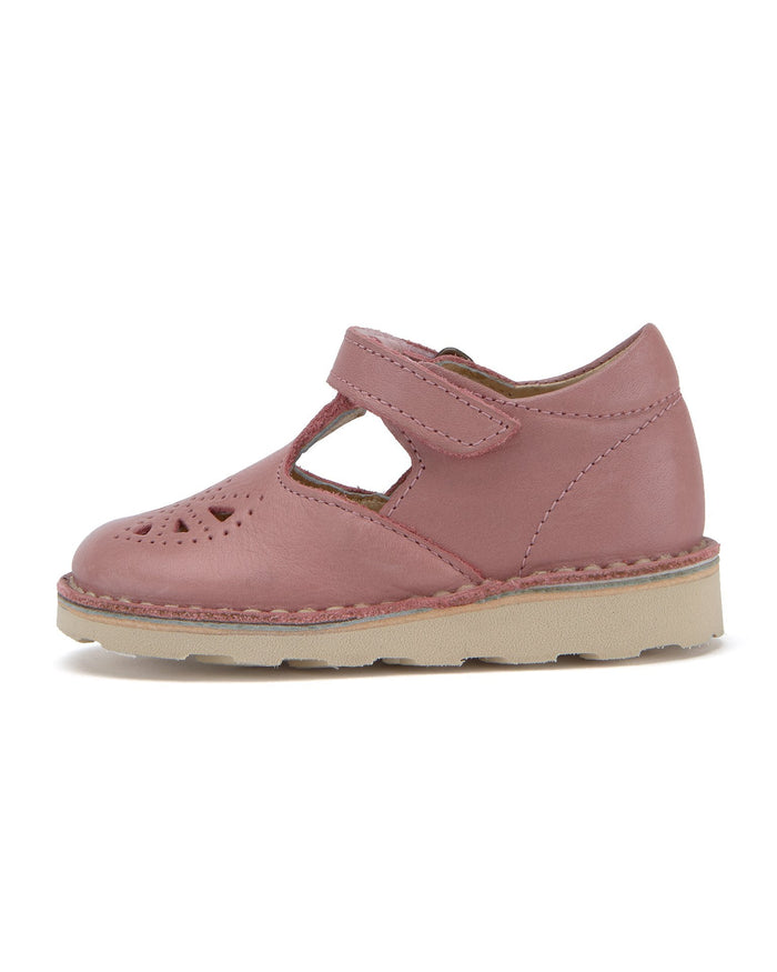Little Young Soles baby girl poppy t-bar in damson