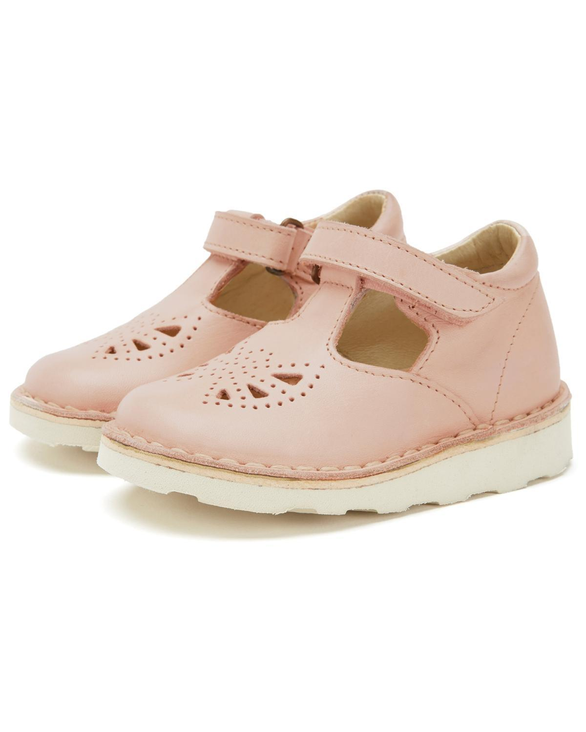 Little young soles accessories 18 poppy t-bar shoe in nude pink