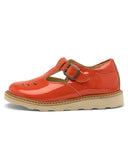 Little young soles girl rosie patent leather t-bar in clementine
