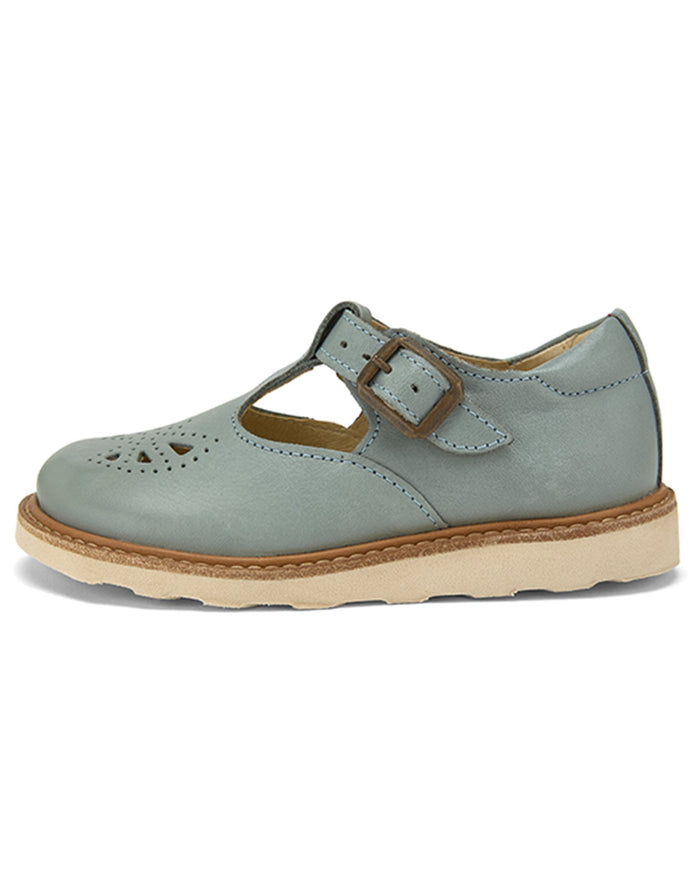 Little young soles girl rosie t-bar in smokey sage
