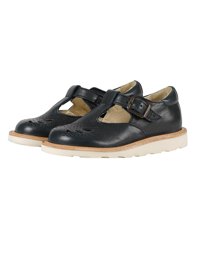 Little young soles girl 23 rosie t-bar shoe in navy