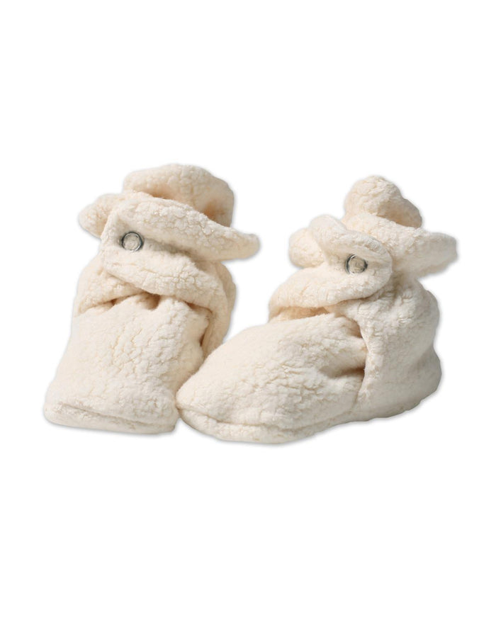 Little zutano baby accessories 3m Cozie Fleece Booties in Cream