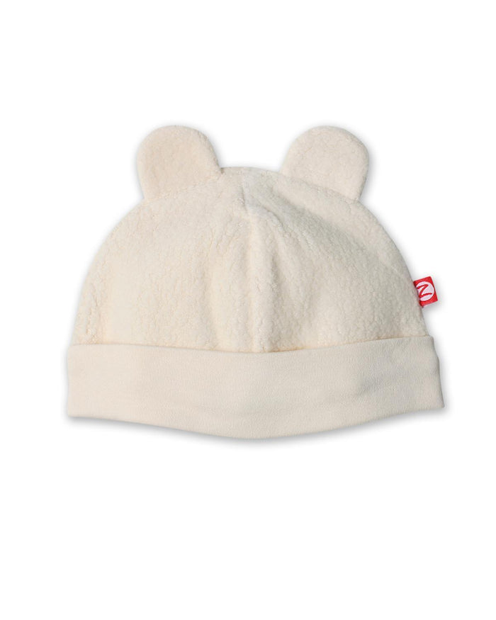 Little zutano baby accessories 3m Cozie Fleece Hat in Cream