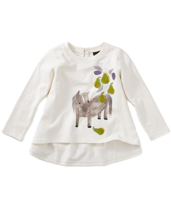 pears and pony graphic baby tee