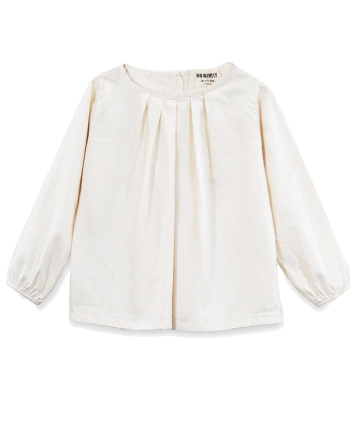 pleated blouse in natural