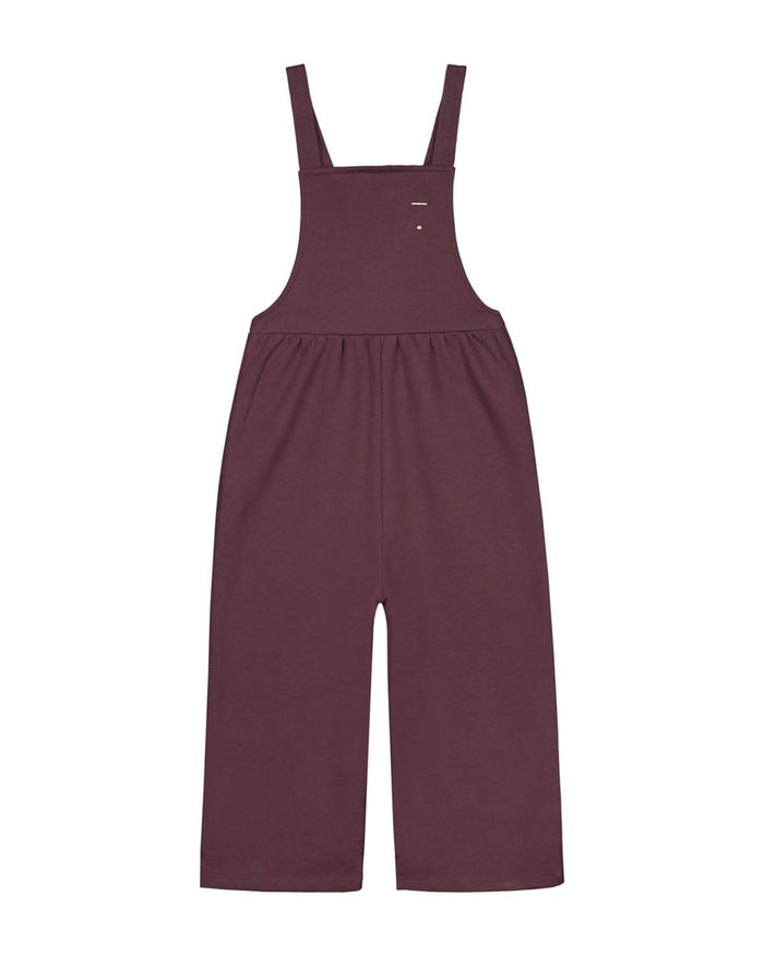 pleated suit in plum