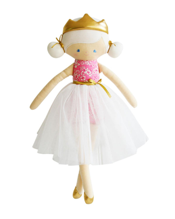 princess portia in pink + ivory