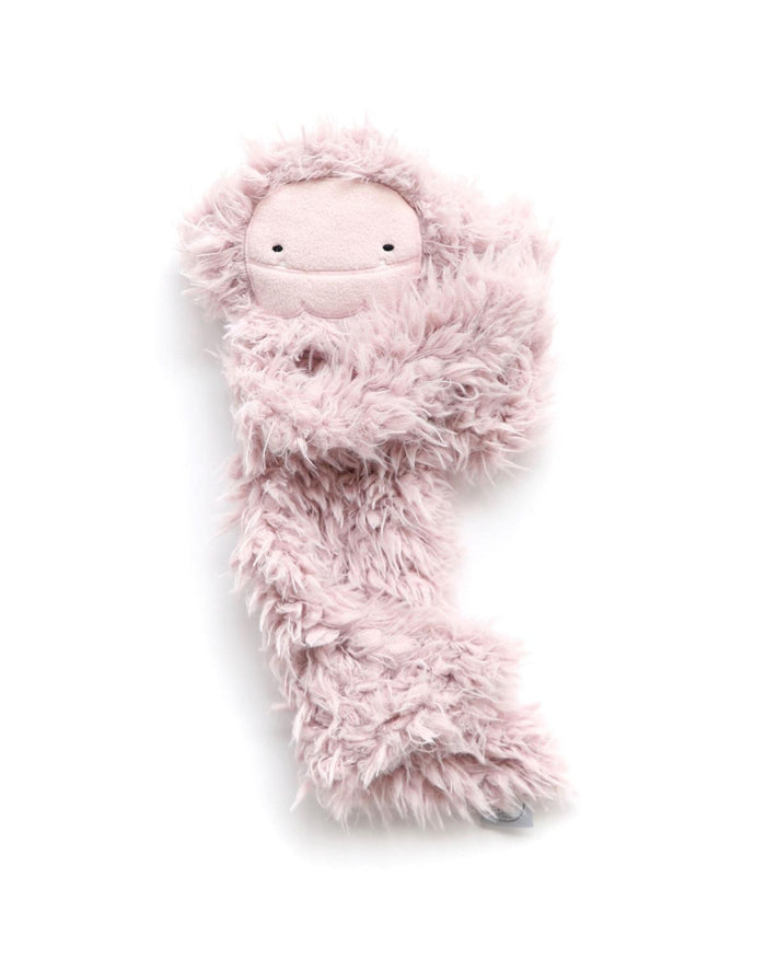 ultra plush bigfoot snuggler in blushing pink