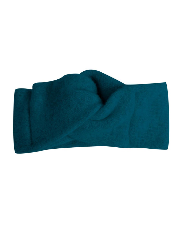 wool + cashmere turban in canard