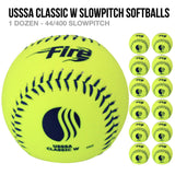 Fire USSSA Classic W Slowpitch Softballs - 1 Dozen
