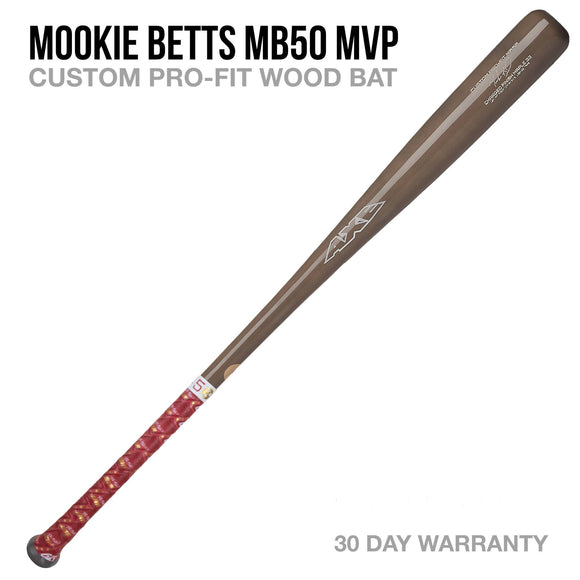 Mookie Betts MB50 MVP Custom Pro-Fit Wood Bat
