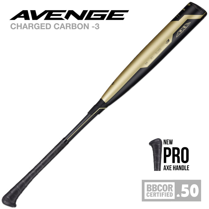 2019 Avenge Composite (-3) BBCOR Baseball - PRO AXE HANDLE